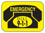 Emergency Phone Labels (Stock)
